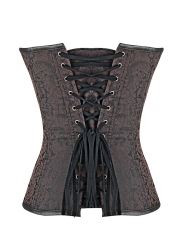 Women Steel Boned Overbust Gothic Steampunk Corsets Tops