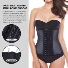 Women Short Torso Latex Shaper Waist Training Corset Cincher