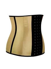 Golden Steel Boned Latex Waist Training Corsets Cincher