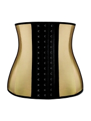 Golden Steel Boned Latex Waist Training Corsets Cincher