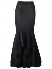 Vintage Long Ruffle Thin Mermaid Steampunk Skirts Wholesale