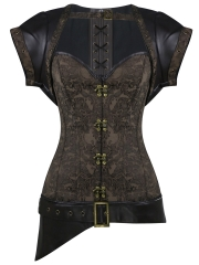 Dobby 12 Steel Boned Gothic Steampunk Overbust Corset Tops