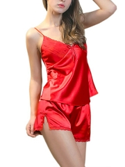 Sexy Womens Silk Sleepwear Lingerie Pajama Sets Wholesale