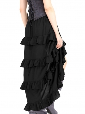 Gothic Elastic Victorian Steampunk Corset Skirts Costumes