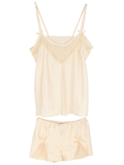 Womens Lace Sleeveless Pajama Set Sexy Sleepwear Lingerie