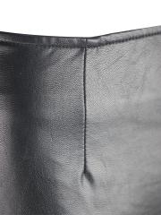 Vintage High Waist Faux Leather Midi Skater Steampunk Skirts