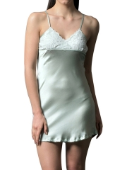 Charming Womens Lace V Neck Nightdress Sleepwear Lingerie