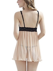 Womens See Through Mesh Babydolls Lace Lingerie Sleepwear