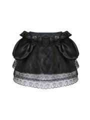 Vintage Ruffle Lace Petticoat Satin Steampunk Tutu Skirts