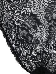 Charming Transparent Lace Halter Backless Lingerie Teddies