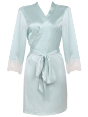 Wholesale Lace Long Sleeve Pure Silk Gowns Robes Sleepwear