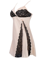 Womens Satin Lace Sleeveless Nightgowns Sleepwear Wholesale