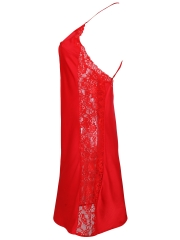 Women Nightdress Satin Chemises Lace Nightgowns Sleepwear