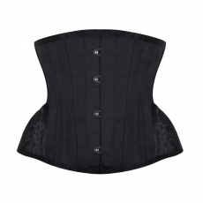 Short Torso Embroidery 12 Steel Boned Waist Training Corsets