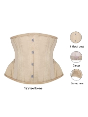 Embroidery Underbust Satin Waist Training Corsets Trainer