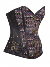 14 Steel Boned Steampunk Leather Corset Tops With Rivet
