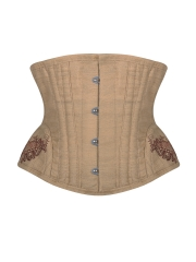 Linen Embroidery Waist Training Underbust Corset And Bustier