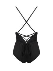 Women Bodysuits Deep V Lace Teddies Backless Lingeries