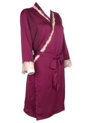 Two Pieces Women Kimono Satin Nightgowns Robes Sleepwear