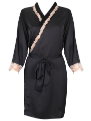 Two Pieces Women Kimono Satin Nightgowns Robes Sleepwear
