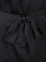 Long Sleeve Lace Kimono Cheap Sleepwear Satin Robe For Women