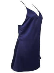 Women Satin Nightdress Sleeveless Nightgowns Sleepwear