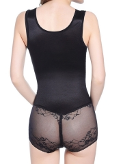 Breathable Seamless Thin Firm Lace Bodysuit Mesh Body Shaper