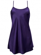 Blue Backless Lace Nightdress Satin Nightgowns For Women