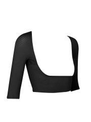 Short Sleeve Crop Tops Arm Body Shaper Shoulder Corrector