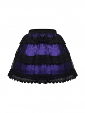 Purple Retro Victorian Punk Mini Steampunk Skirts Wholesale