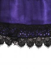 Purple Retro Victorian Punk Mini Steampunk Skirts Wholesale