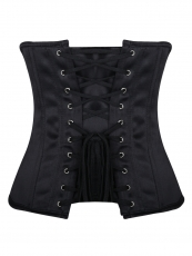 Vintage 12 Steel Boned Satin Underbust Waist Training Corset