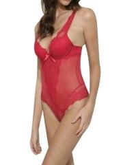 Womens Sexy One Piece Bodysuit Lace Push Up Teddies Lingerie