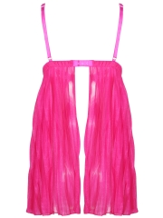 Plus Size Deep V Lace Chemises Nightwear Babydolls Lingerie