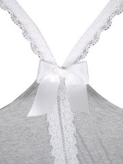 Comfortable Lace Tank Sleeveless Cotton Pajamas Short Sets