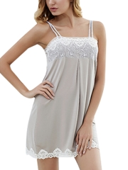 Women Cotton Sleepwear Stretchy Chemise Lace Nightgowns