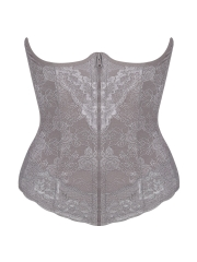 Women Lace Shapewear Clip n Zip Waist Trainer Body Shaper