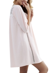 Women Seven Sleeves Modal Nightdress Lace Loose Nightgowns