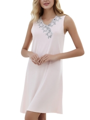 Women Modal Nightdress Sleeveless Nightgowns Sleepwear