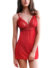 Women Chemise Sexy Lingerie Full Slip Lace Babydoll Dress