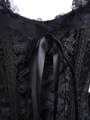 Gothic Steampunk Victorian Lace Steel Boned Corsets Tops