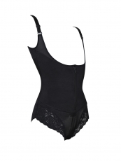 Women Clip n Zipper Lace Bodysuit Body Shaper Shapewear