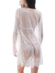 Lace Bra Sets Robes Lingerie Sets See Through Sleepwear