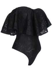 Women Lace Teddies Lingerie Off Shoulder Bodysuits Wholesale