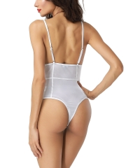 One Piece Mesh Bodysuits Teddy Lingerie Transparent Teddies