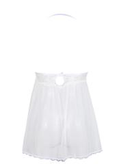 White Transparent Lace Babydolls Dress Chemises Lingerie Set