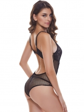 Lace Backless Teddies Halter See Through Bodysuit Lingerie