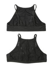 Black Sheer See Through Underwear Lace Bra Sets Lingerie