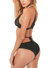 Strappy Lace Bra and Panties Lingerie Sets For Women
