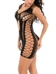 Womens Mesh Babydolls Lingerie Hollow Out Mini Dress Chemise